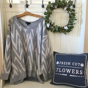 NWT! Plus Size Lane Bryant Geometric Sweater